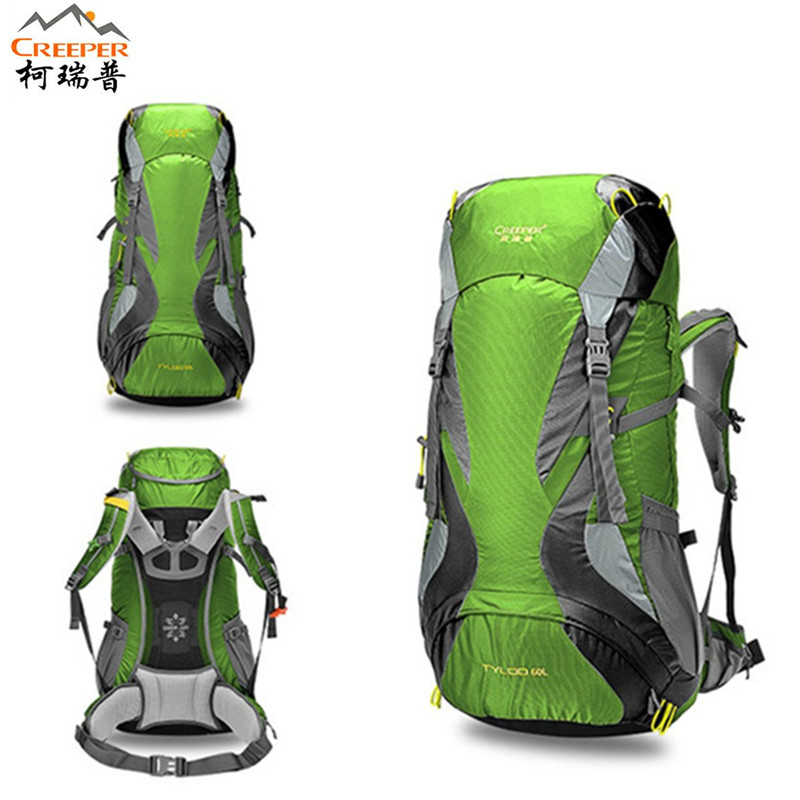 Creeper Camping Backpack men and women Travel Hiking bags 60L Sports Bag Women Men Outdoor Climbing Bag Mountaineering Rucksack 60l large waterproof travel bags rucksack nylon outdoor camping hiking bicycle sports backpacks bag men women climbing backpack