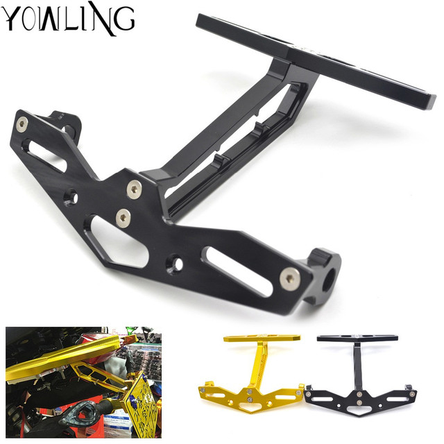 Universal Motorcycle license plate frame equipped steering lamp ...