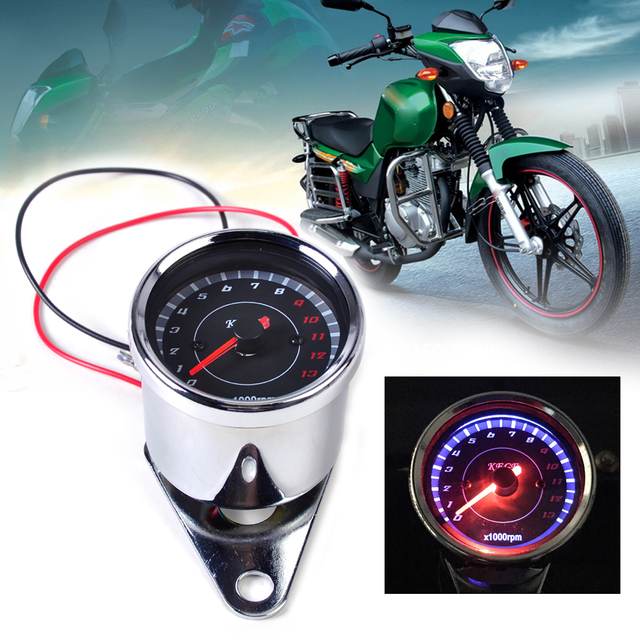 Universal 60mm LED 13000 RPM Motorcycle Tachometer Scooter Analog Tacho Meter Gauge For Honda Yamaha Kawasaki Suzuki KTM ATV