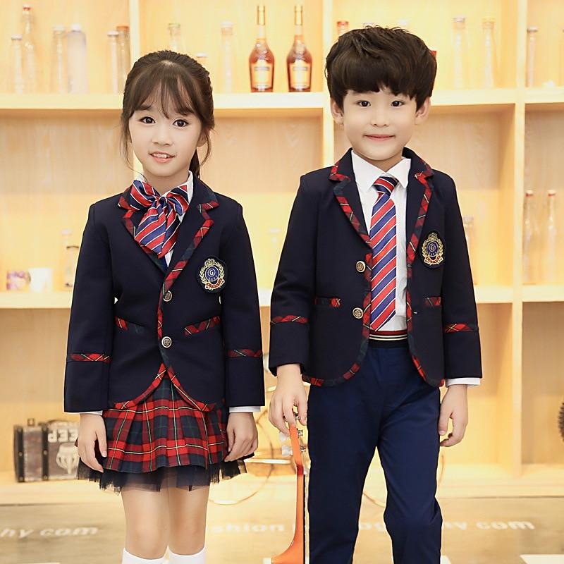High-end Custom Uniforms Schoolchildren Small Suits College Wind Elite Schools Serving Kindergarten Class Service