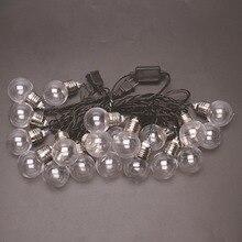 6 м 20 светодиодный светильник, пластиковая лампочка, лампа для внутреннего декора, романтичный теплый белый свет для рождественских праздников, вечерние