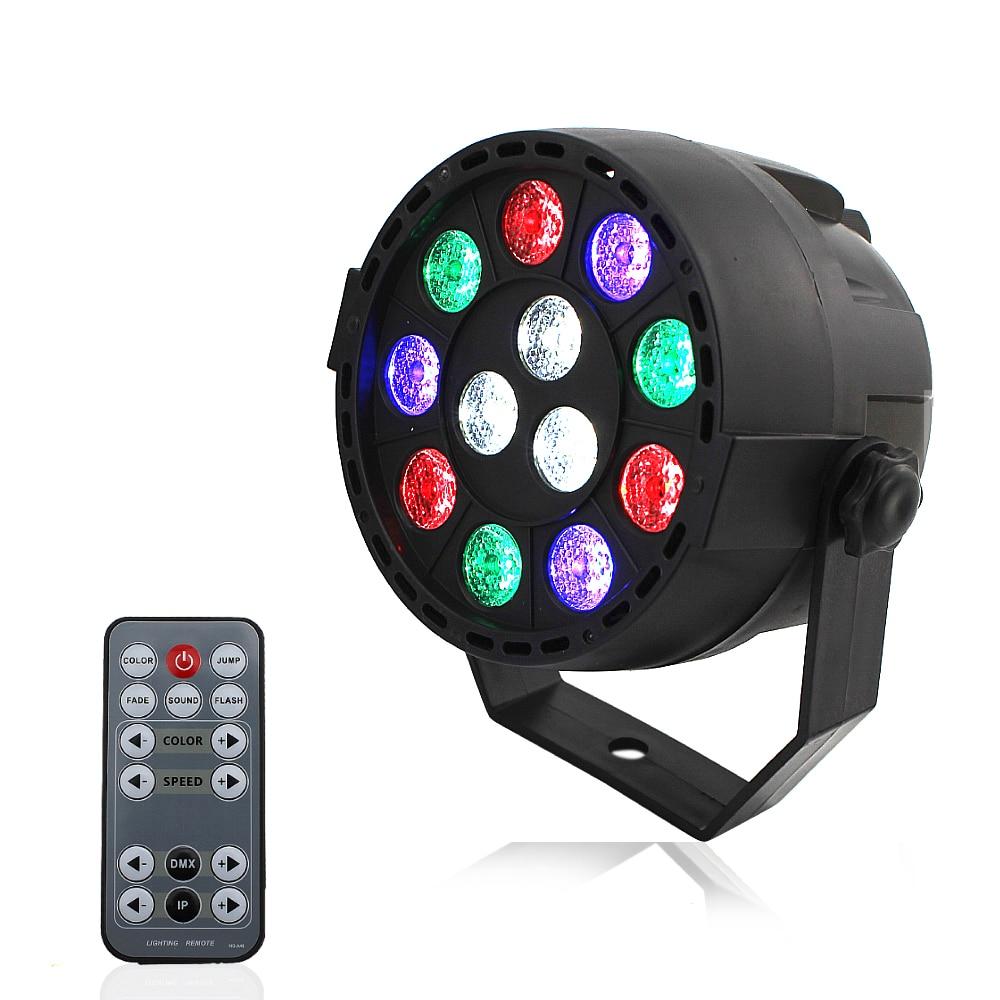 Mini Sound Activate DMX Control 12LEDs 54LEDs RGBW Color Mixing Par Spot Light Disco Party  Music Show Projector Lighting Effect