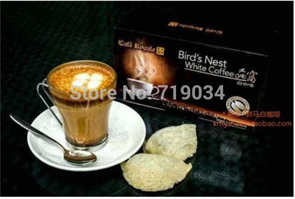 Singapore Cafe Royale Royal Coffee bird's nest  beautiful  White Coffee (18 packets)