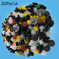 200Pcs Mixed auto fastener Vehicle Car Bumper Clips Retainer Fastener Rivet Door Panel Fender Liner universal for all car