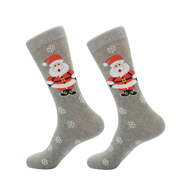 Jhouson 1 pair Fashion Crew Funny Christmas socks Colorful Men's Cotton Causal Dress Colorful Wedding Socks For Gifts 2