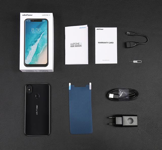 Ulefone X Smart Phone 5.85″ HD+ Octa Core Android 8.1 4GB+64GB 13MP 3300mAh Wireless Charge Phone