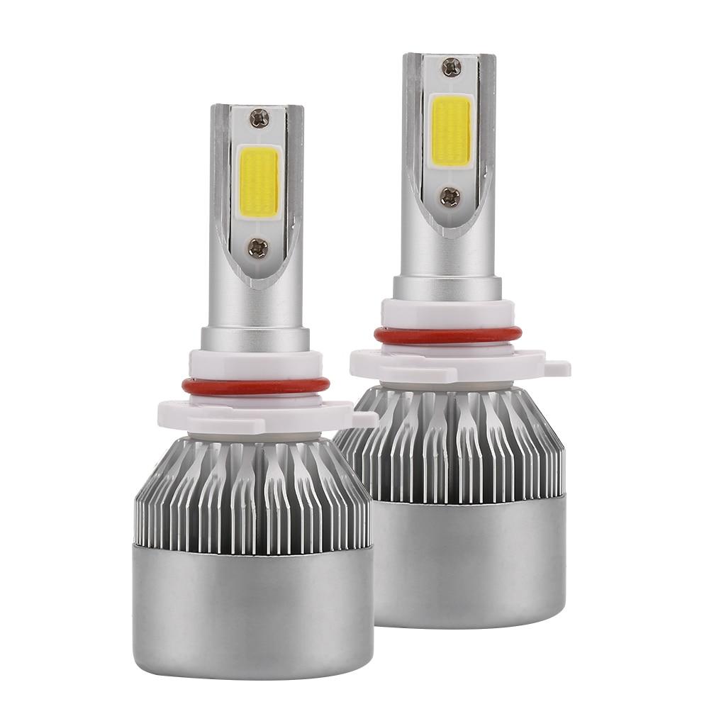 2 pezzi Car Styling 12 v LED Auto Fari COB H4 H7 Testa Della Lampada Auto Luci 80 w 8000LM Testa lampadine H1 HA CONDOTTO le Lampade 6000 k 24 v C6