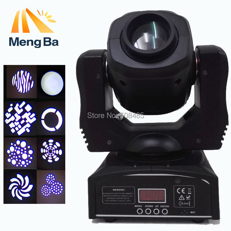 Free shipping  60W led moving head spot light led mini moving head beam light double gobo wheel best quality new mini 30w led spot moving head light with gobo plate