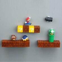 Супер Марио сделай сам магнит на холодильник ТВ FC детская игра Япония мультфильм игровой мультфильм 3D ледяная коробка Пастер ледяная коробка наклейка