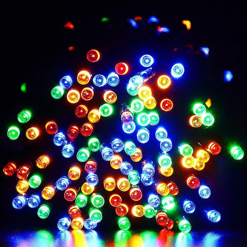 Solar LED Festival String Lights 22m 200 LEDs Waterproof Fairy Christmas Modes Lights Outdoor Lighitng Garden Party Lights