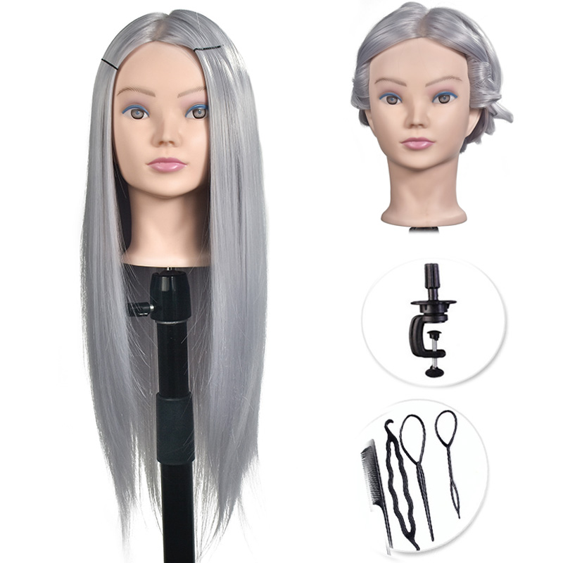 Professional training heads with long thick hairs practice Hairdressing mannequin dolls hair Styling maniqui tete for saleProfessional training heads with long thick hairs practice Hairdressing mannequin dolls hair Styling maniqui tete for sale