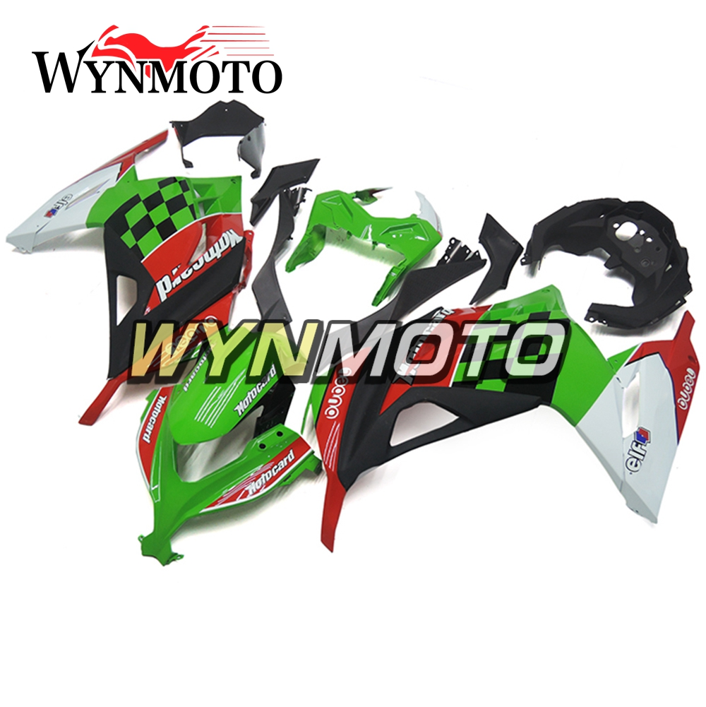 Green Red Complete Fairings For Kawasaki EX300R EX-300R 13 14 15 Ninja 300 2013 2014 2015 ABS Injection Motorcycle Fairing Kit hot sales yzf600 r6 08 14 set for yamaha r6 fairing kit 2008 2014 red and white bodywork fairings injection molding