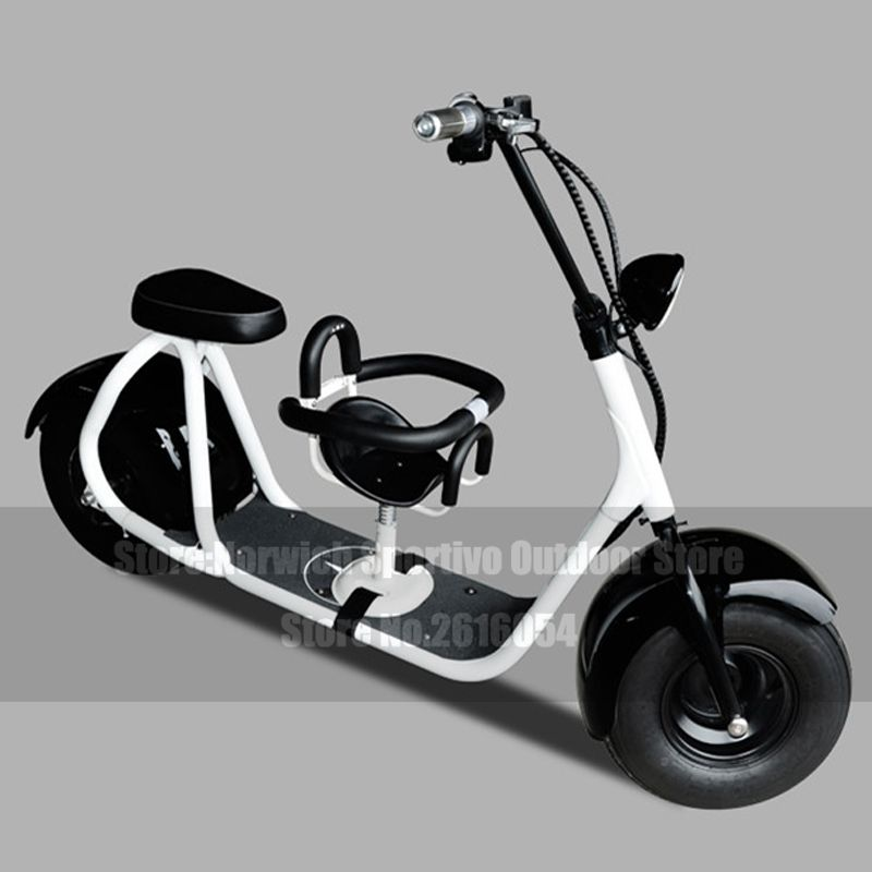Citycoco Electric Scooter Adult E-Bike Fat Tire CE 1000W  60V  Two-wheel  Voltage With Child Skateboard Seat  City Bicycle economic multifunction 60v 500w three wheel electric scooter handicapped e scooter with powerful motor