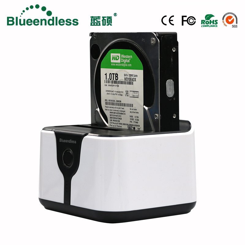 2 bay hdd docking station clone duplicator hdd box 3.5 sata to usb 3.0 hard disk case hdd caddy plastic for 6tb sata hdd dock acasis usb 3 0 mobile hard disk drive docking station for 2 5 3 5 sata hdd white max 4tb