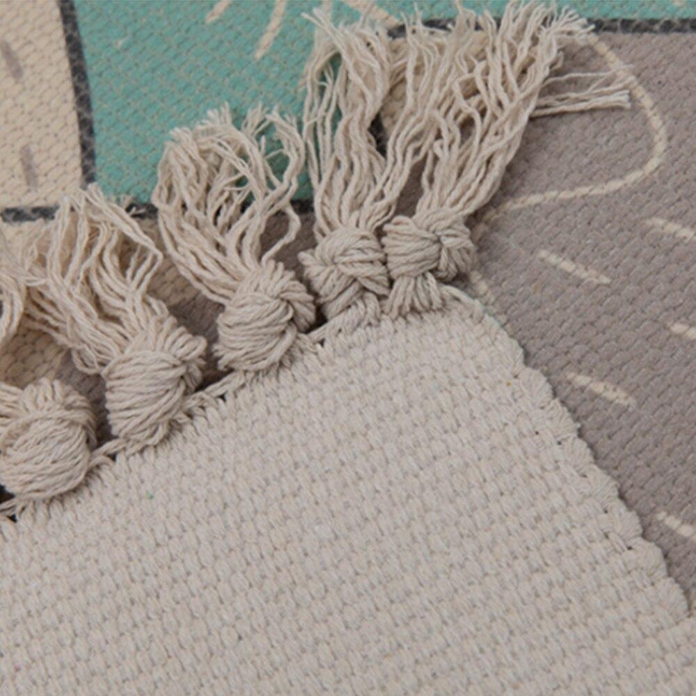 Tapis en coton Multi taille maison frais tapis Style nordique chambre contractée tapis décoratif livraison directe - 4