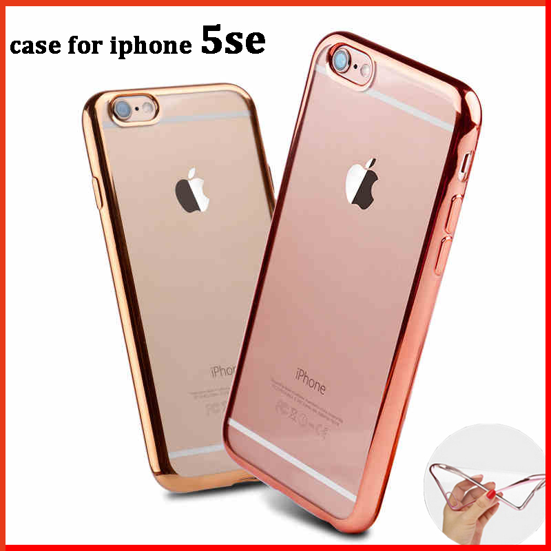 Luxury clear coque cover case for iphone 5se 5 se for