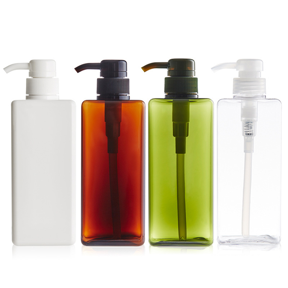 650 ML Refillable Bottles Lotion Container Large Pump Plastic Shampoo Bottle Refillable Travel Bottle 4 Colors Living Essentials travel container set