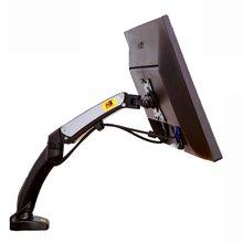 NB F100 газовая пружина 17-27 дюймов настольный светодиодный держатель для монитора эргономичная газовая стойка Flexi Mount с 2USB портом нагрузки 2~ 6,5 кг