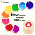 Venalisa Gel Lacquer 5ml 180 Pure Colors Soak Off UV LED Gel DIY French CANNI Gel Polish Design Nail Painting Color Gel Varnish