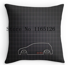 Hot sale Pillow cases GTI Tartan two sides printing Square Zippered Pillowcase free shipping