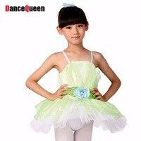 2016 New Ballet Dress For Children Rose Purple Green Blue Girls Classical Ballet Tutu Kids Performance
