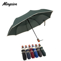 Mingzion Travel Folding Automatic Umbrella Waterproof 6 Colors Windproof Business Eight Ribs Woman Man Rain Umbrella Sombrillas