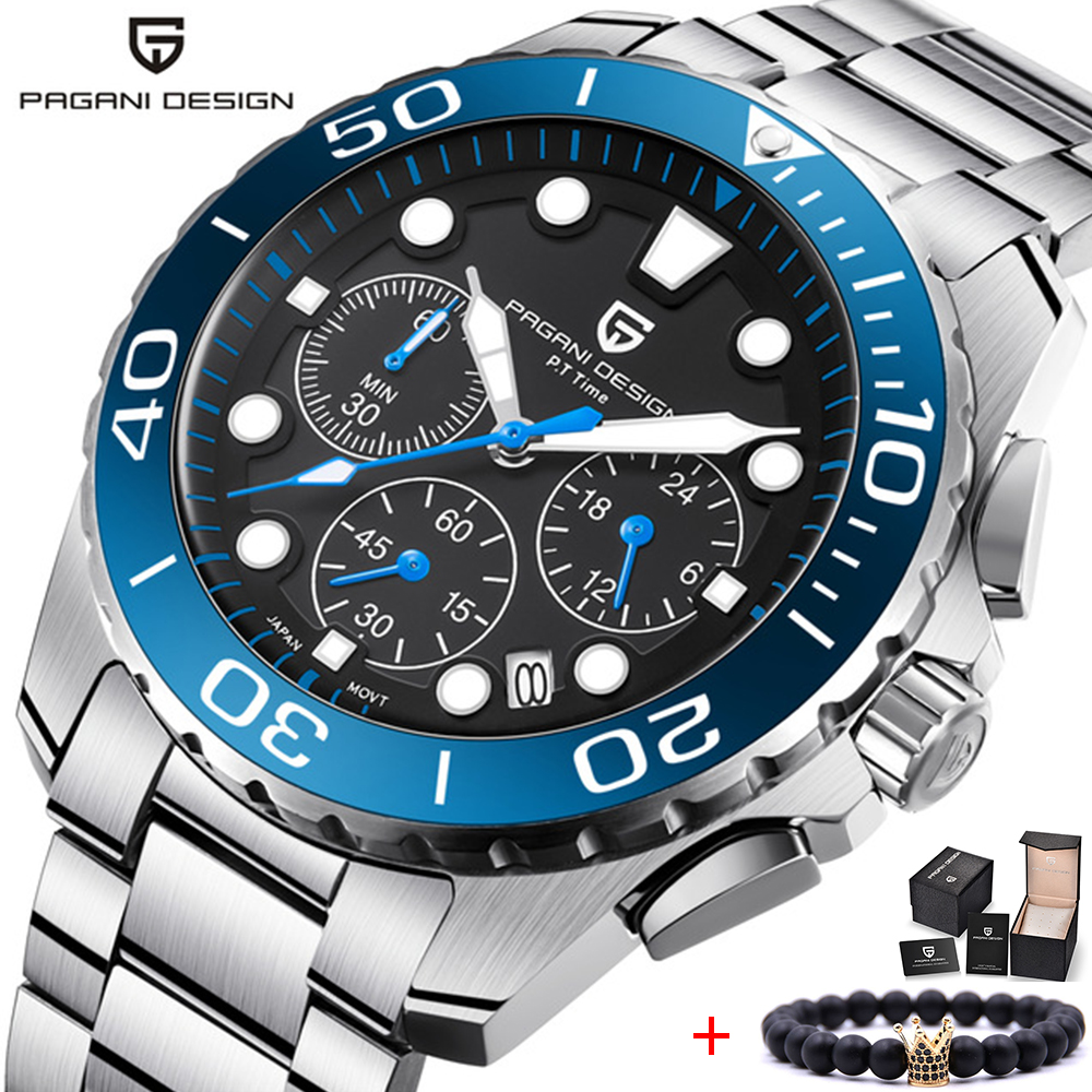 PAGANI DESIGN 2018 New Luxury Military Chronograph Quartz Watch Men Top Brand  Waterproof Sport Watches Clock Relogio MasculinoPAGANI DESIGN 2018 New Luxury Military Chronograph Quartz Watch Men Top Brand  Waterproof Sport Watches Clock Relogio Masculino