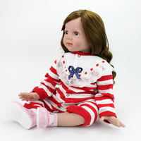 60 см винил возрождается одежда для малышей Кукла Игрушечные лошадки 23 дюймов реалистичные силикона девушка куклы принцессы для малышей под