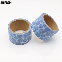 JBFISH Japanese Style Paper Decorative Scotch Adhesive Firework Pattern Washi Tape Set Masking Tape Stickers for