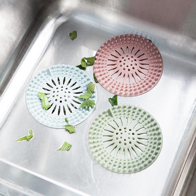 Kitchen Sink Filter Screen Floor Drain Hair Stopper Hand Sink Plug Bath Catcher Sink Strainer Cover Tool Kitchen Appliances