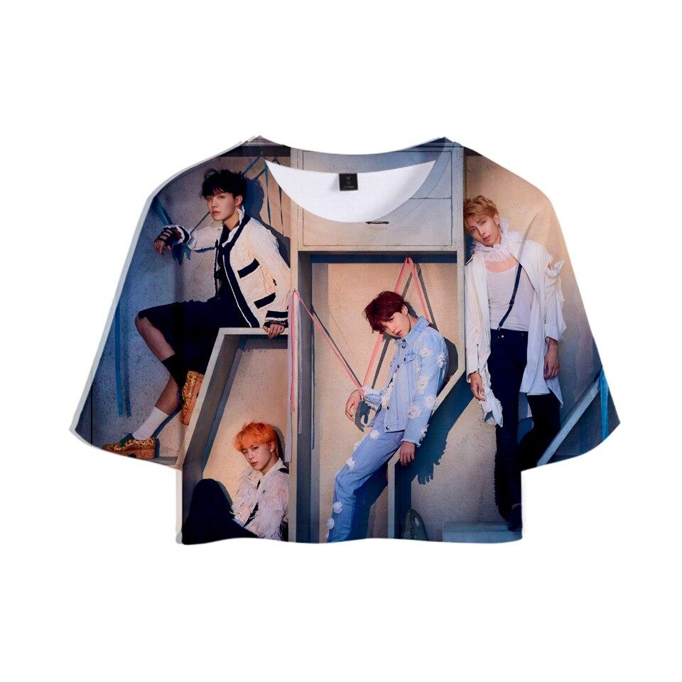 BTS T-shirt 3D LOVE YOURSELF ANSWER Summer Casual Tops Women Clothes Cool Harajuku Tops Hip Hop Print XXS To 2XL