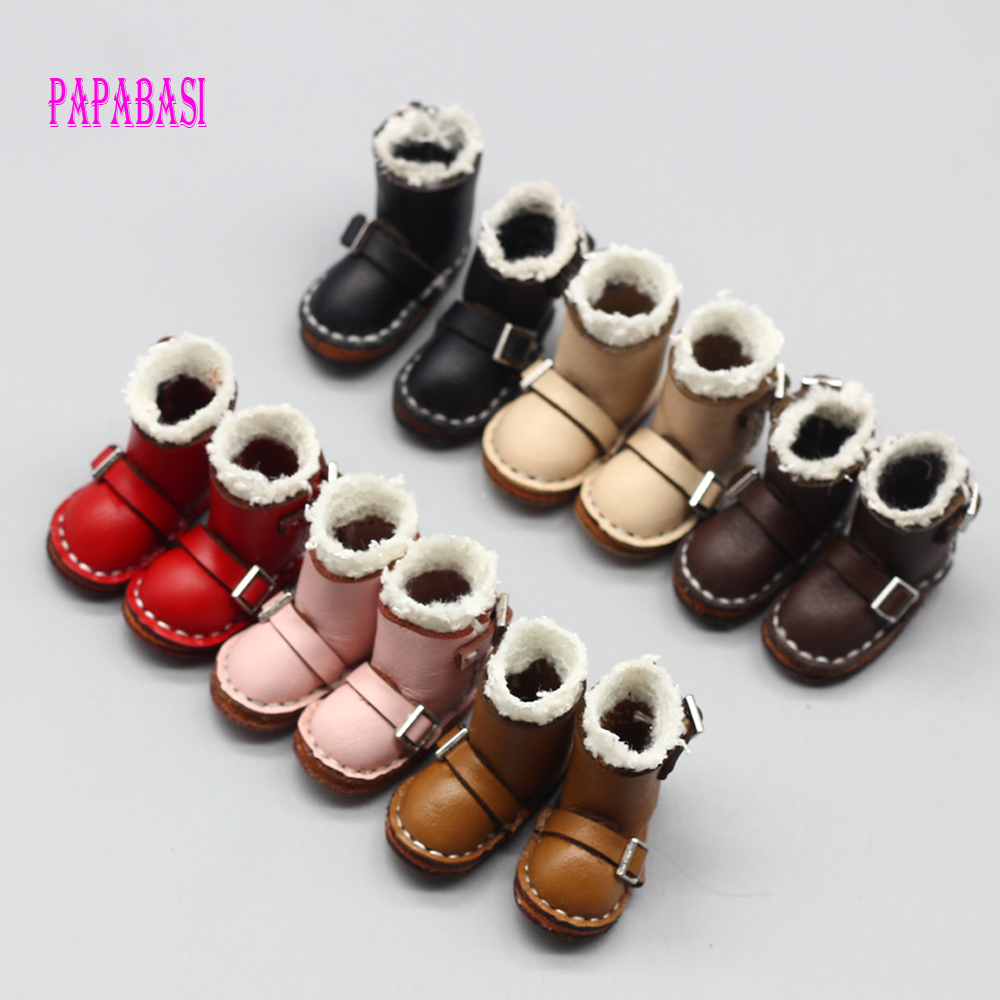1pair 3.6 X 1.6cm Boots Suitable For 1/6 Doll, Normal Doll, Joint Doll, BJD Blyth, Icy, Jecci Five, Licca Body, 5 Colors