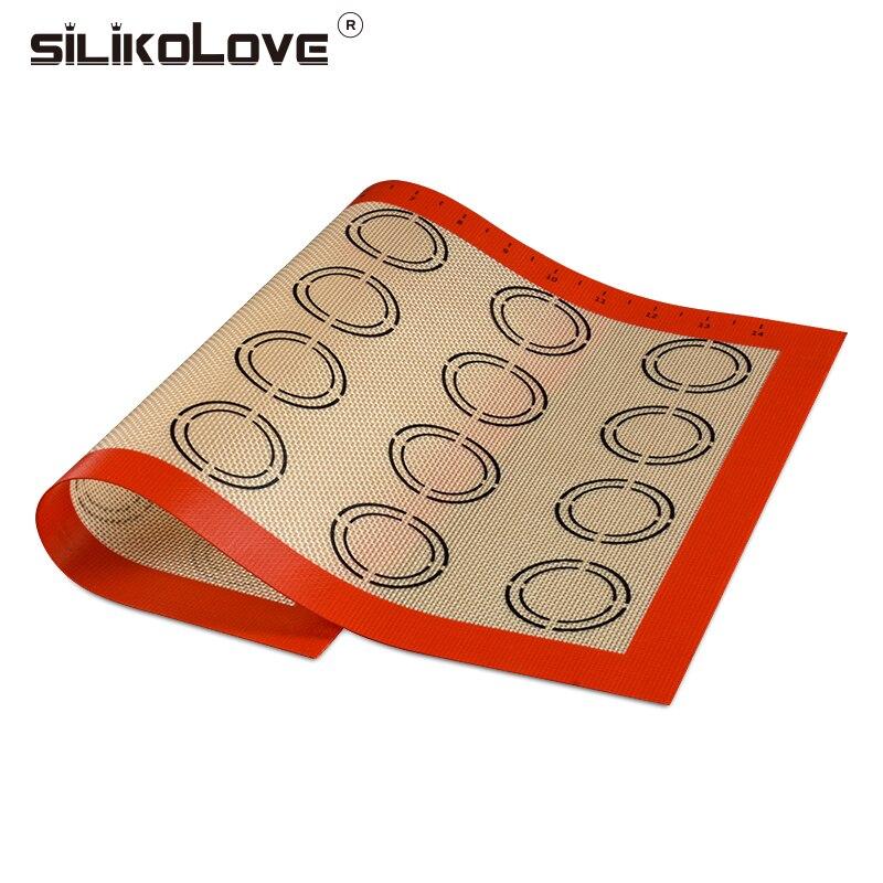 SILIKOLOVE 42*29,5 cm Backen Matte Nicht-Stick Silikon Pad Blatt Backformen gebäck Werkzeuge Rolling Teig Matte für kuchen Cookie Macaron