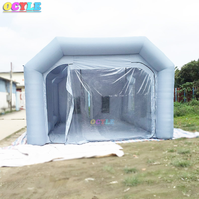 OCYLE Free shipping inflatable spray booth inflatable paint booth tent inflatable car spray booth for sale