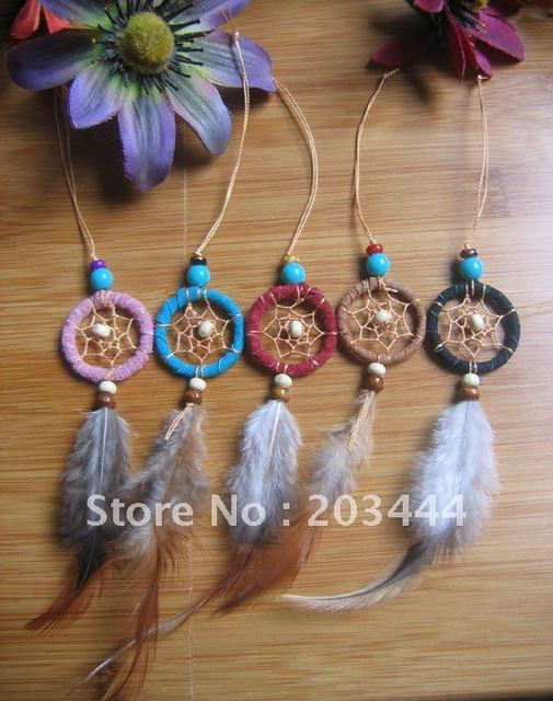 shipping free native american dream catcher keychain 12pcs/lot
