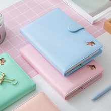 Coreano kawaii bonito colorido páginas plano diário semanal anual agenda agenda dairy macaron capa notebook 2019 organizador a5