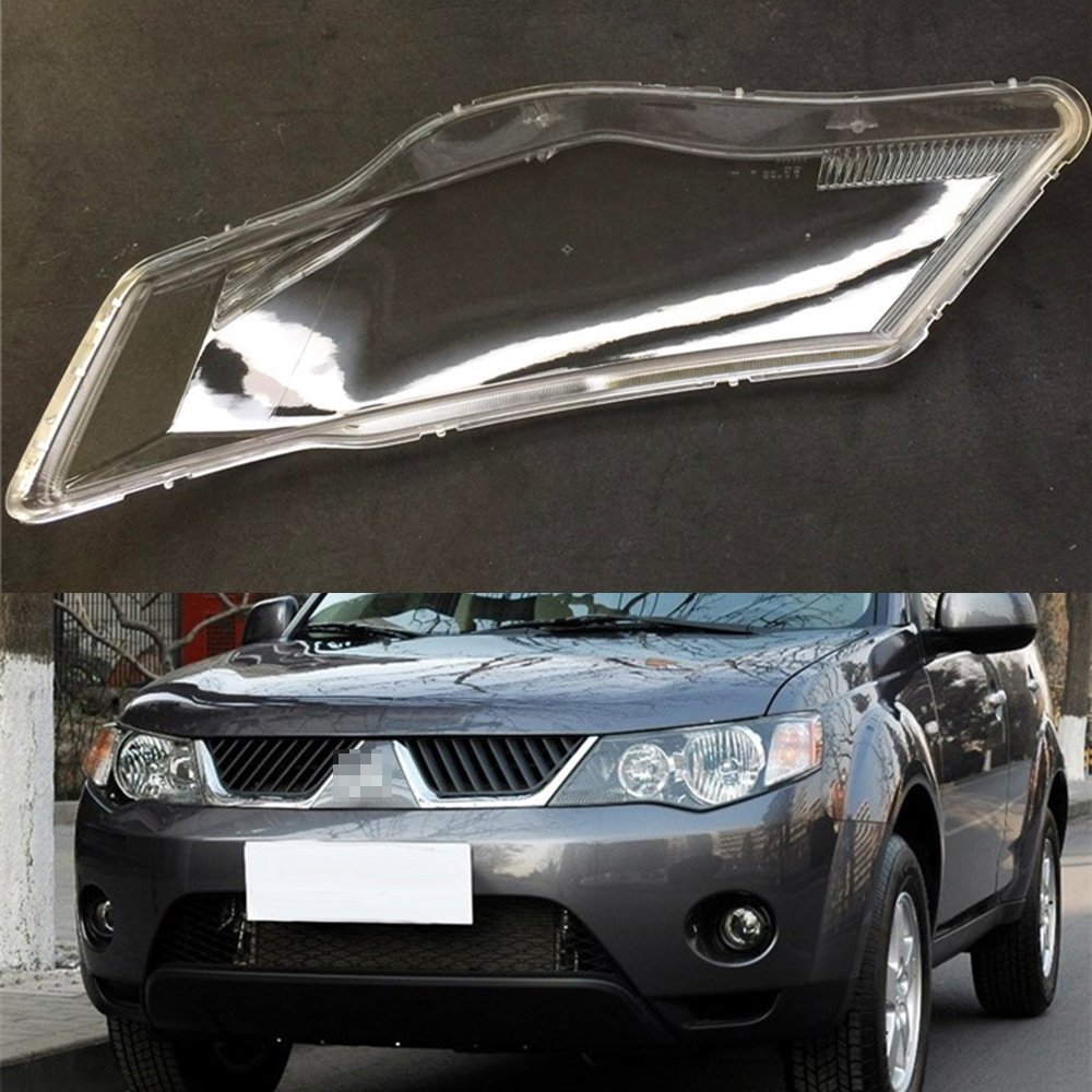 For Mitsubishi Outlander EX 2007 2008 2009 Transparent Car Headlight Headlamp Clear Lens Auto Shell CoverFor Mitsubishi Outlander EX 2007 2008 2009 Transparent Car Headlight Headlamp Clear Lens Auto Shell Cover