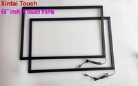 Free Shipping! Xintai Touch 65 inch USB IR Multi touch screen overlay;10 points Infrared multi touch screen frame for LED TV