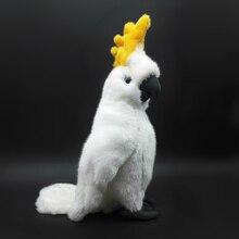 Големи Размери Реалистични Какаду Плюшени Плюшени Играчки Бял Папагал Пълнени Животни Играчки Истински живот Macaw Плюшени Кукли Рожден ден