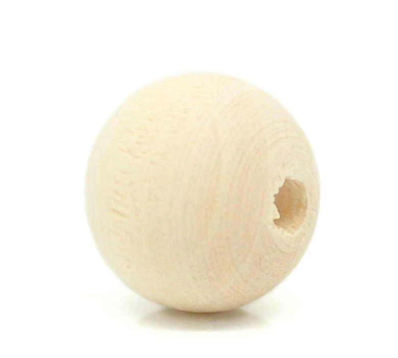 "DoreenBeads 30 PCs Bola Natural Wood Spacer Beads 12x11mm (1/2 ""x3/8"") 2015 baru"