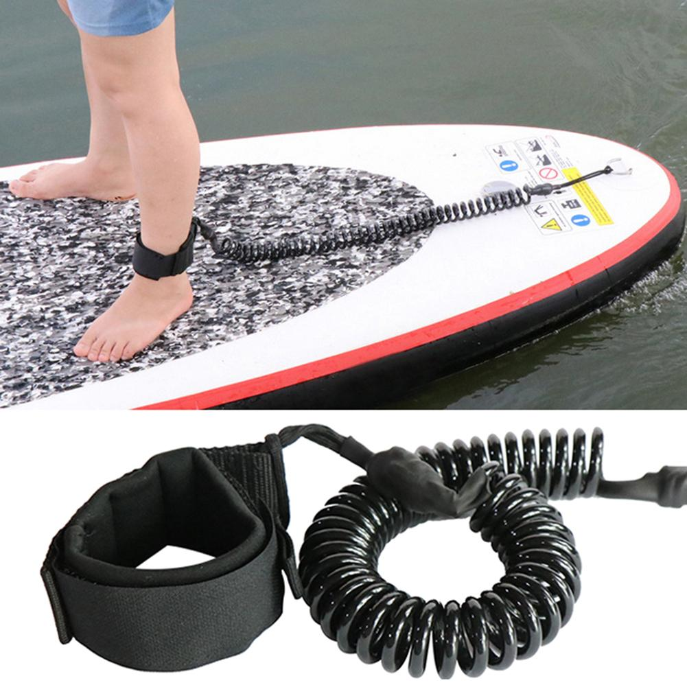 NEW 10.6ft Surfboard Paddle Leash SUP Surfing Board Safety Ankle Foot Leg Coil Rope