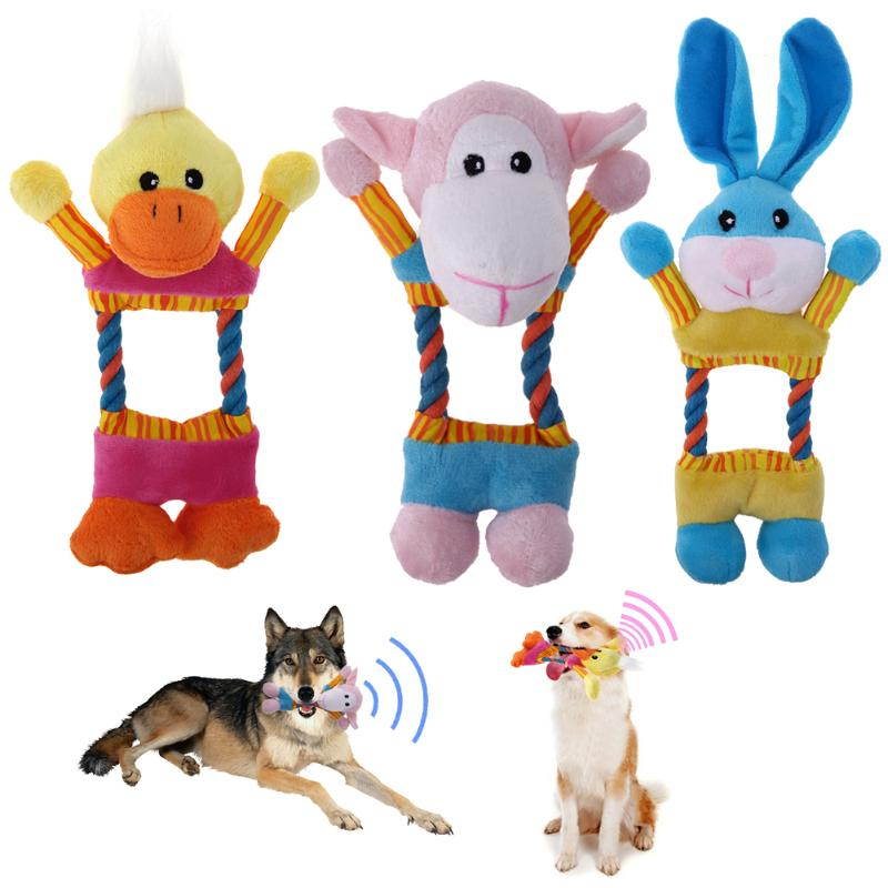 Plush Dog Toys Funny Hollow Out Interactive Sound Squeak Chew Toy Goods For Pets Animals Puppy Cat Products For Dogs