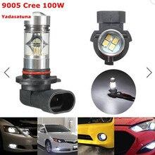 2 xHigh Qualidade 100 W 9005 HB3 LED Bulb 20 SMD com Luxeon Chip carro Nevoeiro Luz DC 11 V ~ 30 V 360 Graus 900lm 6000 K DRL luz de Nevoeiro luz