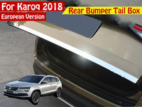 Car Rearguards Trunk Rear Bumper Tail Box Trim Car Styling For Skoda Karoq 2017 2018 Europe