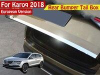 Car Rearguards Trunk Rear Bumper Tail Box Trim Car Styling For Skoda Karoq 2017 2018 Europe