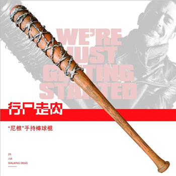82cm The Walking Dead tool Negan Action Figure Toy model Weapon Cosplay PVC baseball bat softball bit stick Toys [new] the walking dead zombie head action figure model resin crystal car ornament home desk decoration furnishing articles gift