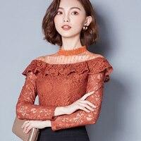 2016 New Women Basic Shirt Sleeveless Lace Women Clothing Fashion Round Collar Shirt Solid Blouse Hot