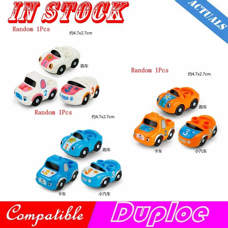 Legoing Cities Duploe Sports Car Auto Vehicle Accessories Parts Sets My Creator Truck Blocks Toy For Children Legoings Duplo Kit
