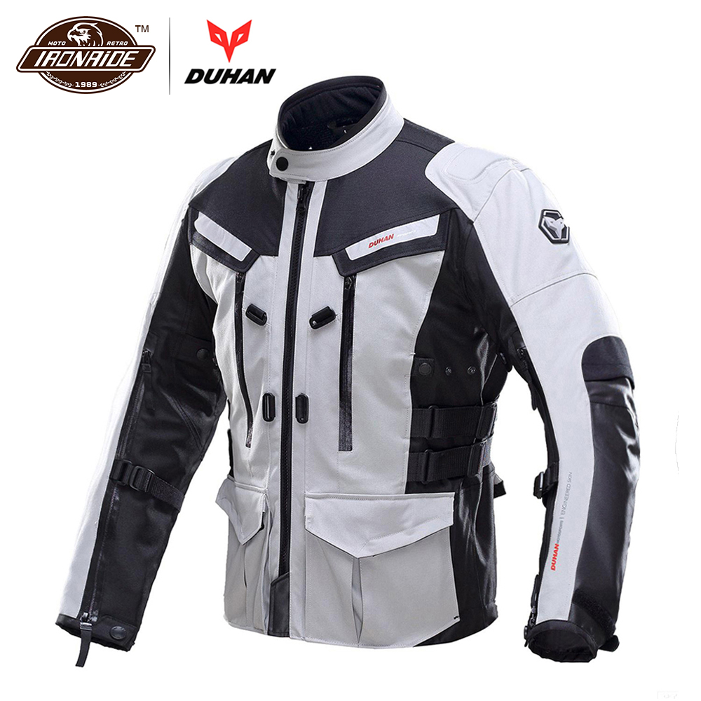 DUHAN Men Motorcycle Jacket Waterproof Cold-proof Moto Jacket Protective Gear Motorbike Motorcycle Clothing for Autumn Winter duhan motorcycle jacket motorcycle pants suit autumn winter cold proof waterproof touring chaqueta moto protective gear