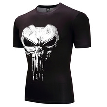 2019 New Design Compression Shirt Punisher 3D Printed T-shirts Civil War Avengers Cosplay Costume Fitness Clothing Tops For Male
